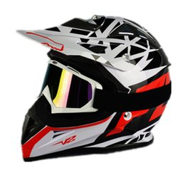 Wholesale Helmet Dh - 2017 New Top quality Motorcycle Motocross Racing Helmet DH Downhill MX MTB Capacete Off-Road V2 Motocross Helmet With Goggles