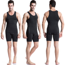 Wholesale Tight Dress Sell - Hot Selling Solid Plain Sports training PRO man tight vest Basketball fitness running Sweat quick-drying vest dress