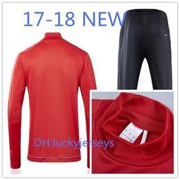 Wholesale Bulls Training - Top Thai quality tracksuit training suit red soccer Jerseys 17 18 Bull FELIPE GULBRANDSEN KLJESTAN MUYL ALLEN VERON long pants..