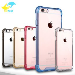 Wholesale Iphone Proof Protective Case - For Apple iPhone 7 7 Plus 6 6S 6 6S Plus Phone Case Acrylic Anti Drop Shock Proof Full Protective TPU Clear Hard Case Cover Capa