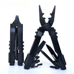 Wholesale Combination Pliers Tools - Brand New 16.7CM Black Color 2CR13 Stainless Steel Multifunction Tools With Multi-purpose Pliers Knife Bottle Opener Etc