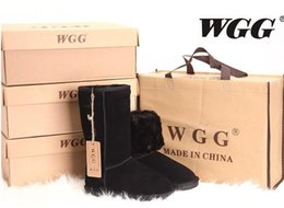 Wholesale Women S Boots Wholesale - 21pairs Factory Sale Nice Classic WGG Brand Women Tall short Australia Genuine Leather Boots Fashion Women€s Snow Boots US5--US12