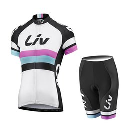 Wholesale Short Sleeve Woman Cycling Jersey - 2017 LIV Cycling Jerseys Summer Style For Women Short Sleeves Bike Wear MTB Ropa Ciclsimo Quick Dry Bicycle Clothing D1802