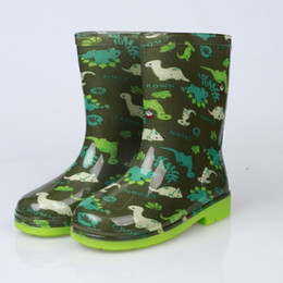 Wholesale Wholesale Animal Print Boots - Kids cute cartoon rain boots Boys Girls crystals galoshes 4 colors strawberry car dinosaur loving heart patterns children's waterproof boot