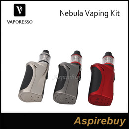 Wholesale Red Nebula - Vaporesso Nebula Kits 100W Nebula Box Mod with 2ml Veco Tank Veco Plus Tank adopt Ceramic EUC Coil 100% Original