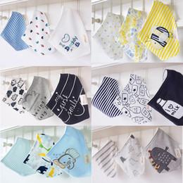 Wholesale Baby Burp Cloth Sets - 3pcs set Cute momscare Kids Infant Newborn Baby Bandana Bibs Towel Saliva Towel Burp Cloths Cotton Cartoon Animal Triangular Scarf A119