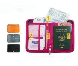 Wholesale Document Bag Zipper - 2017 Time-limited Promotion Passport Documents Package Travel Bag Pouch Id Credit Card Wallet Cash Holder Organizer ,nylon Multi Purpose