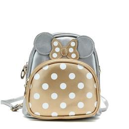 Wholesale Girls Bag Bow - Hug Me Girls Backpack 2017 New Korean Cute Cartoon Mickey Design Backpack Fashion Bow Girls Bags EC-735 so