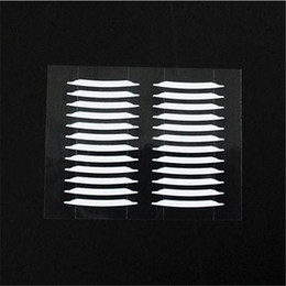 Wholesale Thin Clear Double Sided Tape - Wholesale- 600pcs White Eyelid Sticker Double Eyelid Tapes Thin Invisible Double-sided Clear Adhesive Eye Makeup Accessories