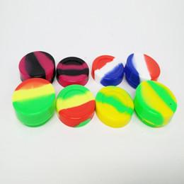 Boîtes de rangement en caoutchouc en Ligne-Récipient de cire de silicone plat coloré pour boîte de silicium en caoutchouc de qualité alimentaire, boîtier rond, 3ml 5ml, antiadhésif pour supports de stockage pour pots Dab Dabber