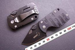 Wholesale Pigging Knife - 2PCS LOT Boker QQ Black Pig Hunting Folding G10 handle Pocket Mini knife 55HRC 420 Tactical Free shipping