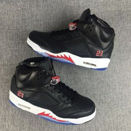 Wholesale Brand Shoes Online - brand retro 5 black white red online mens basketball shoes V 5s boy sneakers trainers free shipping sale cool quality