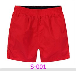 Wholesale Black Swimsuit Shorts - 2017 Beach Summer Men Board Man Shorts Brand Casual Polyester Men Shorts Bermuda Quick Drying Swimwear Swimsuit