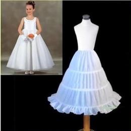 Wholesale Girls Underskirt Kids - Best Selling Children Petticoat 2017 A-line 3 Hoops Kids Crinoline Bridal Underskirt Wedding Accessories For Flower Girl Dress CPA306