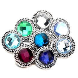 Wholesale Cheap Chunk Bracelets Buttons - N06 wholesale cheap metal snap bracelet crystal noosa chunk ginger snap buttons women snap jewelry
