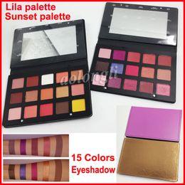 Wholesale 15 Color Eyeshadow Palette - Denona Eyeshadow Palette 15 color eyeshadow makeup sunset palette Makeup Purple Gold Eye Shadow lila palette DHL Free shipping