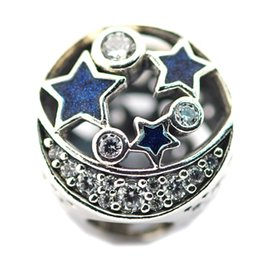 Wholesale Nights Zodiac - 2016 Vintage Night Sky Openwork Charm 100% 925 Sterling Silver Beads Fit Pandora Charms Bracelet Authentic DIY Fashion Jewelry