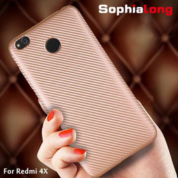 Wholesale Xiaomi Hongmi Cover - Redmi 4X Case Cover for Xiaomi Redmi 4X Back Cases Soft TPU & Carbon Phone Shell for Xiaomi Hongmi 4X Caps