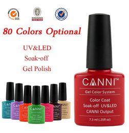 Wholesale White Glitter Tips - Wholesale- CANNI Colorful Gel Polish Soak Off UV LED Glitter Nail Art Tips Manicure 7.3ml Color 137-151
