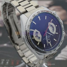 Wholesale new style fan - Men's Brand Stainless Steel Mechanical Automatic Style Luxury Fashion Classic Series Double Fan Watch Mens Watches