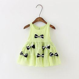 Wholesale Baby Kids Clothes Designer Red - Baby Girl Dress Sleeveless Gilrs Clothes Kids Dresses Summer Designer Princess Dress Christmas Children Clothing