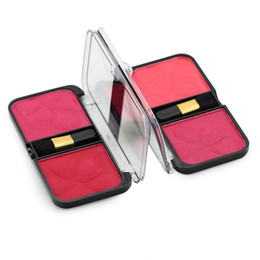 Wholesale Fix Rose - Wholesale-Miss Rose 2016 Beauty 2-Color Face Fixed Blush Powder Palette with Brush Slimmer Long Lasting Cheek Powder Makeup Fashion Style