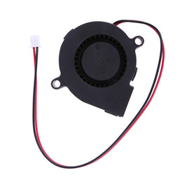 Wholesale Dc 12v Brushless Cooling Fan - Wholesale- High Quality DC 12V 0.06A 50x15mm Black Brushless Cooling Blower Fan 2 Wires 5015S