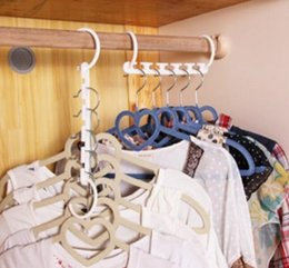 Wholesale Garment Storage Closet - New Space Saving Hanger Plastic Cloth Hanger Hook Magic Clothes Hanger With Hook Closet Organizer