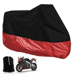 Wholesale Bicycle Rain Accessories - Red Big Size XXL XXXL Waterproof Motorcycle Moto Electric Bicycle Covers Motor Protector Rain Coat Motorcycle Accessory