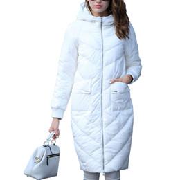 Wholesale Doudoune Femme - Women's Winter Jacket Hooded Coats White Long Down Jackets Parkas For Women Elegant Cocoon Thick Coats Doudoune Femme Invierno