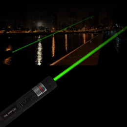 Wholesale Battery Powered Laser - Powerful SDLaser303 Adjustable Focus 532nm Green Laser Pointer Light Output power less than 1mw no battery
