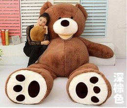 Wholesale Stuffed Brown Teddy Bear - 2017 Wholesale 160cm GIANT HUGE BIG BROWN TEDDY BEAR COVER SHELL STUFFED ANIMAL PLUSH SOFT TOY