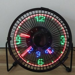 Wholesale Mini Clock Gift - Mini USB 5V ventilator fan with LED clock micro fan exhanst fan New and fashion cool xmas & birthday gift