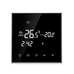 Wholesale Electric Floor Heating Thermostat - TGT70-EP Electric Heating Room Digital Thermostat for Warm Floor Programmable Touch Screen Temperature Controls Regulator with Kid Lock