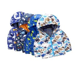 Wholesale Ski Jacket Wholesaler - Children's Coat Kids Dinosaurs Jackets Boys Animal Print Sweatshirts Camouflage Sport Hoodies Ski Wear Jackets Baby Kids Fashion Clothes L3