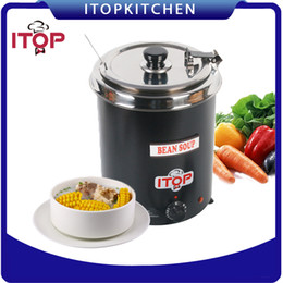 Wholesale Boiler Electric - ITOP 110V 220V Electric Soup Kettle 110V Wet Heat Food Boiler Commercial Catering Stew Sauce Food Warmer Bain Marie Pot 5.7L