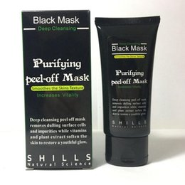 Wholesale 300pcs SHILLS Black Mask Charcoal Mask Blackhead Remover Deep Cleasing Peeling Off Face Mask Beauty Skin Care Big Promotion