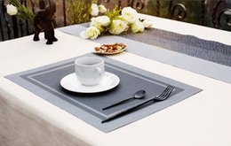 Wholesale Plastic Table Mats - Fashion Luxury Dinner Placemats PVC Plastic Dining Table Mat Heat Insulation Non-Slip Placemats Disc Pads Bowl Tableware Pad Coaster Kitche