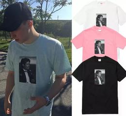 Wholesale Boxing Tshirt - Michael Jackson Photo Tee Box logo Tee Rock N Roll Skateboard T-shirt Men Women Cotton Casual TShirt
