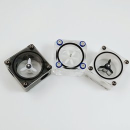 Wholesale White Black Transparent PC Water Liquid Cooling Flow Meter Indicator Included A Blank Plug