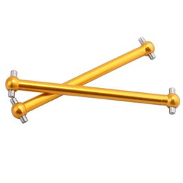 Wholesale Dogbone Shaft - RC Himoto M608 Gold Alum Shaft Dogbone 2P For 1 18 E18XBL Elcetric Buggy