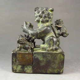 Wholesale Bronze Foo Dogs - A Set Six Pieces Chinese Bronze Foo Dog Seals   Stamps gd6266