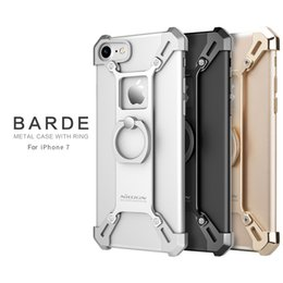"Wholesale Nillkin Cover Case - Nillkin Barde Aluminum Alloy Back Cover with ring Phone Holder for Iphone 7 4.7"" 7 Plus 5.5 """
