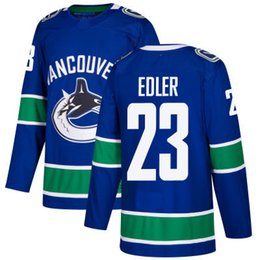 Wholesale Alexander Free - #23 Alexander Edler Jersey 2017-18 New Season Vancouver Canucks 100% Stitched Embroidery Logos Hockey Jerseys White Blue Free Shipping S-3XL