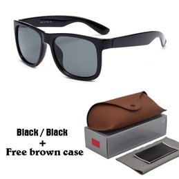 shield leather Promo Codes - High quality Sunglasses Men Women Brand Designer Plank frame Sun glasses Flash Mirror Lenses with Leather brown cases