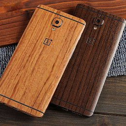 Wholesale Pvc Wood Grain - Full body wood skin for Oneplus 3 Natural 3D Wood Grain Realistic touch Oxidized PVC Resin Material cover case free shipping