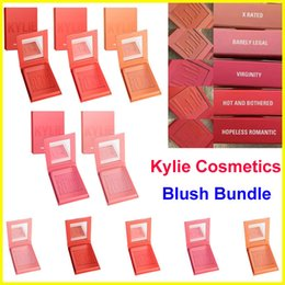 Wholesale 2017 Makeup Kylie matte pressed powder blush colors x rated barely legar virginity hot and bothered hopeless romantic Blush Bundle