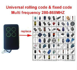 Wholesale Auto Lock Opener Key - Universal multi Key Fob Remote Control rolling code and fixed code Garage door opener clone high quality