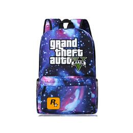 Wholesale Kids School Plain Backpacks - 2016 GTA5   GTA PC Games Mochilas School Kids Backpack For Teenagers Bags Anime Bag Mochila Surrounding Infantil Animation