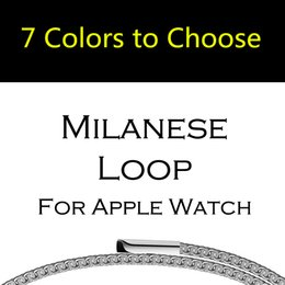Wholesale Mesh Watches - Milanese Loop Strap & Link Bracelet Stainless Steel band For Apple Watch band Series 1 2 42mm 38mm Bracelet Belt mesh wristband for iwatch
